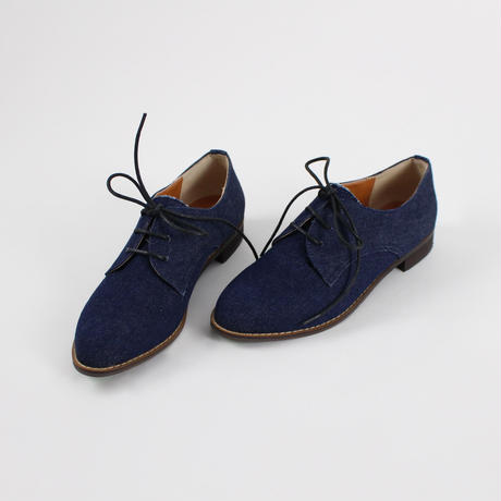 Denim and leather shoes