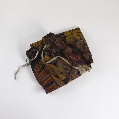linen leaf  print skirt