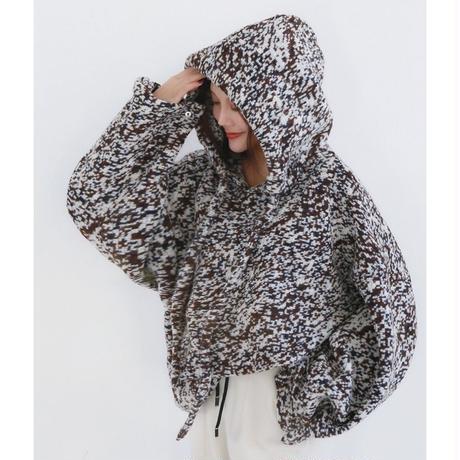 hood wool oversize sweater