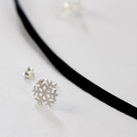 Froze  silver earrings