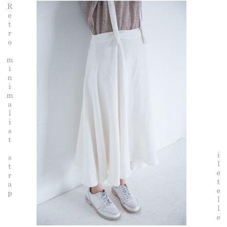 Retro minimalist  strap  skirt