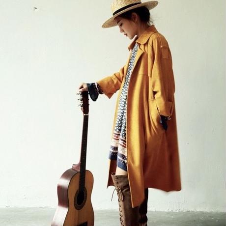 hippie suede leather coat