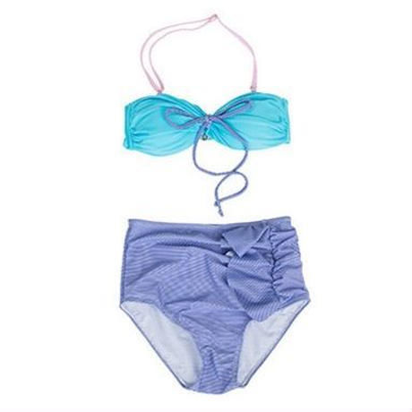 2way-striped hit color bikini