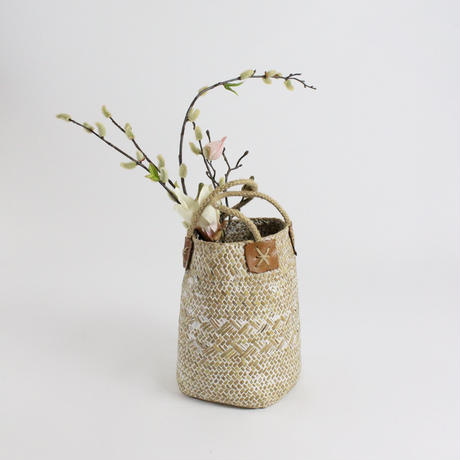 natural straw craft basket