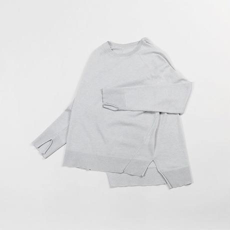 2colors-silk long sleeve sweater
