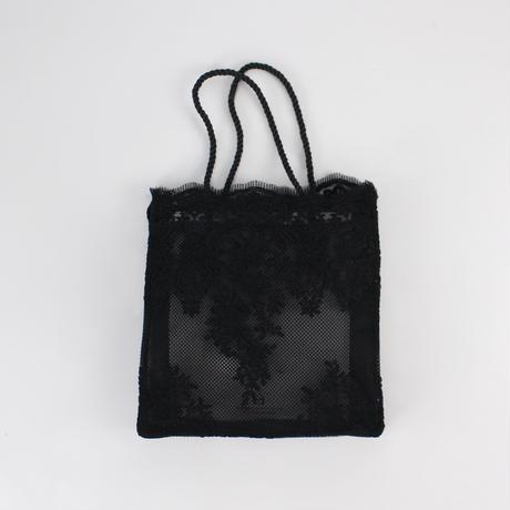 2colors-mesh lace square bag