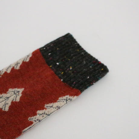 3color-winter tree cotton socks