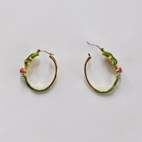 vintage Q-10 crocodile earrings