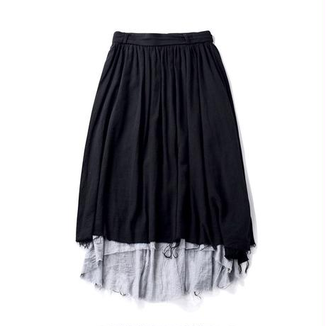 cotton rough cut long skirts