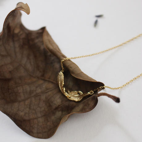 twist feather necklace