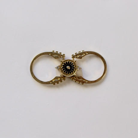 vintage double side ring