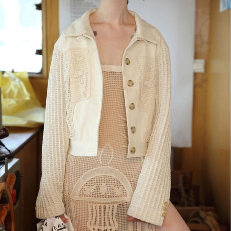 knit sleeve short jacket
