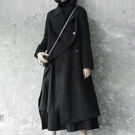 edge cut fleece coat jacket