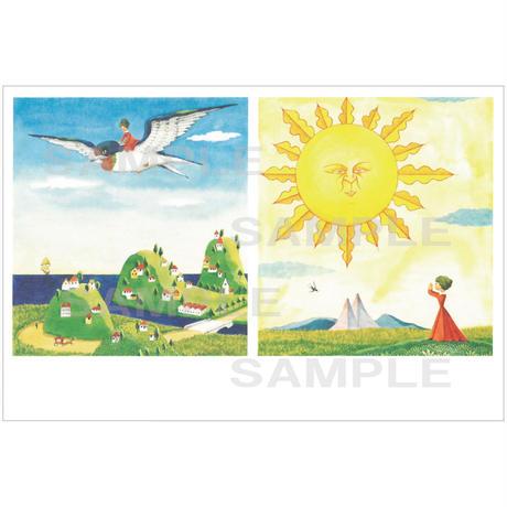 ポストカード 『おやゆびひめ』ツバメ(pl_26005)