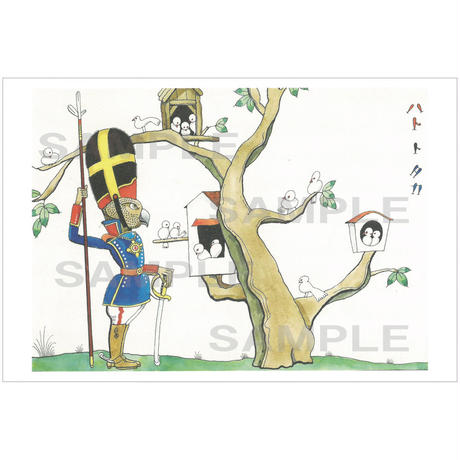 ポストカード 『イソップモノガタリ』ハトとタカ(pl_26001)