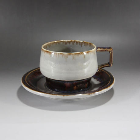 """【ヴィンテージ】 イェンス・H・クィストゴー B&G(Bing & Grondahl) """"Tema"""" ティーカップ&ソーサー  I-127/I-128-06262017"""