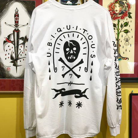 """UBIQUITOUS"" long sleeve tee (WHITE)"