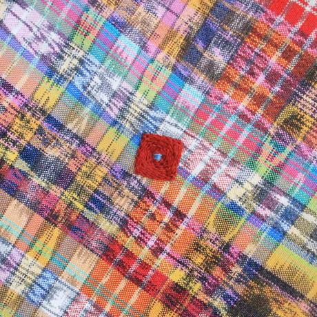コルテスカートL /カラフル絣/マルチ518(四角刺繍入り)