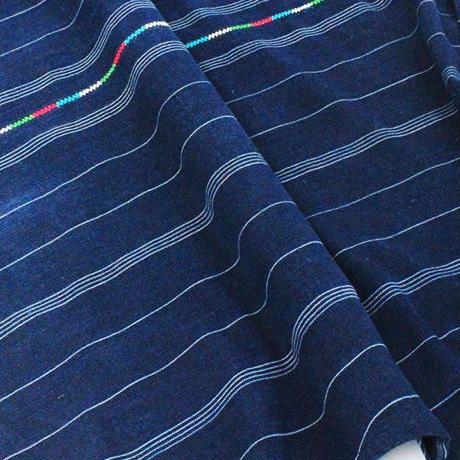 コルテスカートL/インディゴ縞刺繍/小511