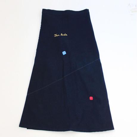 コルテスカートL/IND刺繍/文字四角/1238 Tan linda