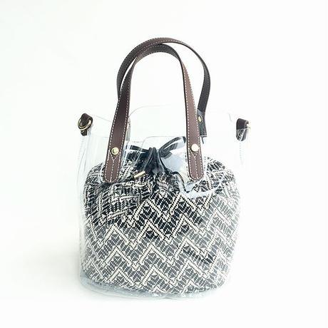 【Ämont Petit アモンプティ】85123 CL クリアトート クリア クリア素材 インナー巾着袋付き 2WAYバッグ