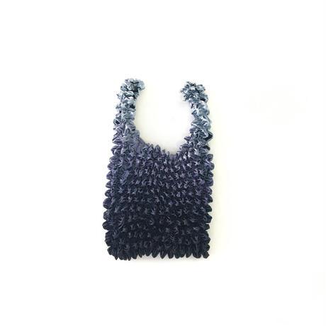 【京shibori bag byÄmont】三浦しぼり(小)グラデーション すみ