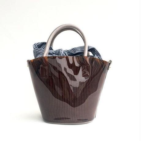 【Ämont Petit アモンプティ】83135  BR クリアバッグ ミニサイズ ブラウン クリア素材 インバッグ付きトートバッグ