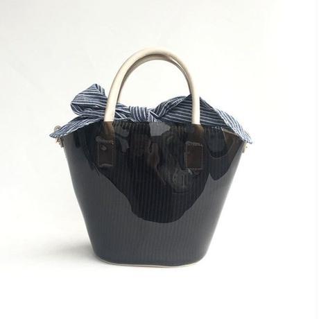 【Ämont Petit アモンプティ】83135  BK クリアバッグ ミニサイズ ブラック クリア素材 インバッグ付きトートバッグ