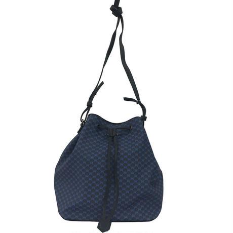 【VERDINO  PARIS】ヴェルディーノ Hexagone Bucket   Navy/Navy ヘキサゴン/幾何学模様   巾着バッグ   ネイビー/ネイビー