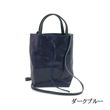 andrea cardone アンドレアカルドーネ 1083 Leather bag XS Python pattern