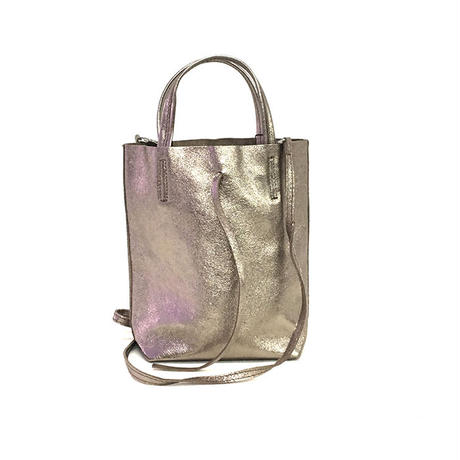 andrea cardone アンドレアカルドーネ 1083/m1 Leather bag sfoderata metal XS Bronze