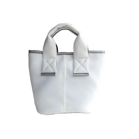 【Ämont Petit アモンプティ】83114 WH ミニトート メッシュ素材 ホワイト 軽量ハンドバッグ