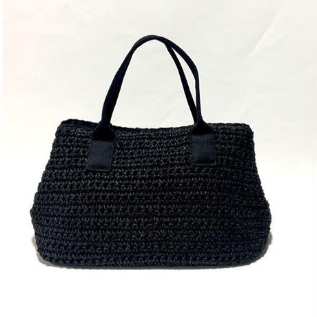 【Ämont Petit アモンプティ】83098 BK 2way ショルダーバッグ  ブラック ペーパー素材トートバッグ