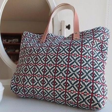 手織物 トートバッグ、trois temps