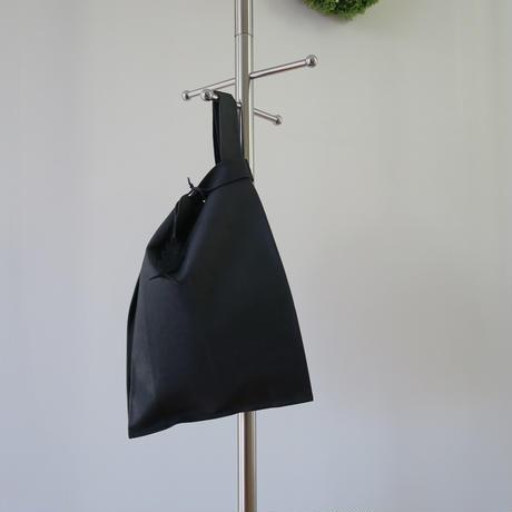 皮革レジ袋型バッグ ブラック、ポルティラ、再入荷しました❗