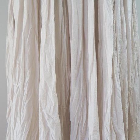フリーサイズ キュプラコットンギャザースカート(シワ加工)、grin、日本製