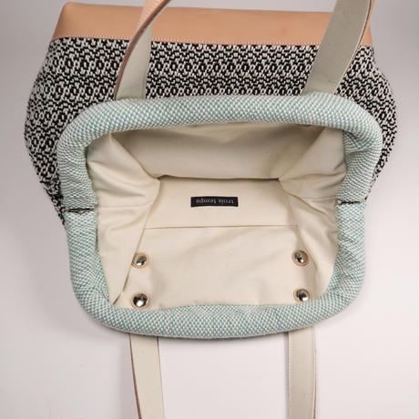 手織物 ハンドバッグ   Nina(大)、trois temps
