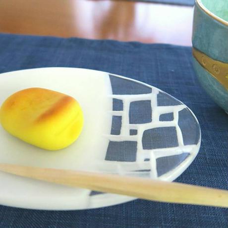 ガラス楕円皿、・白、サブロウ