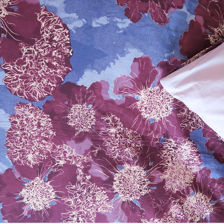 sc touch concept art  掛け布団カバー(シングルロングサイズ) Gimlet(赤紫×薄青紫)、OTOBE、日本製