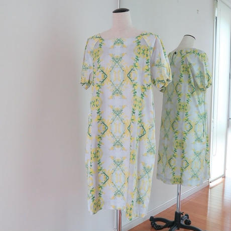 Bi'sオリジナルワンピース Bi's Closet 半袖 ライトグレーミモザ