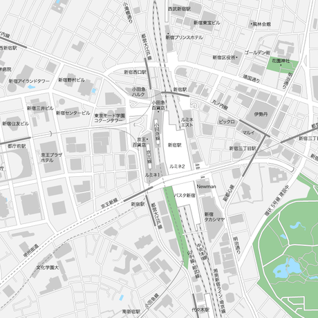 東京 新宿 ベクター地図データ(eps) 日本語