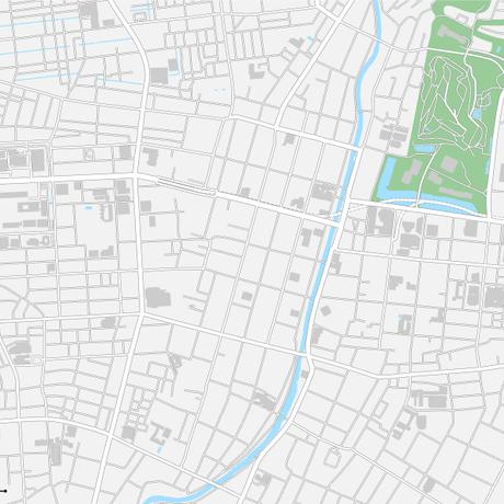 秋田 秋田駅周辺 ベクター地図データ(eps) 日本語/英語 並記版