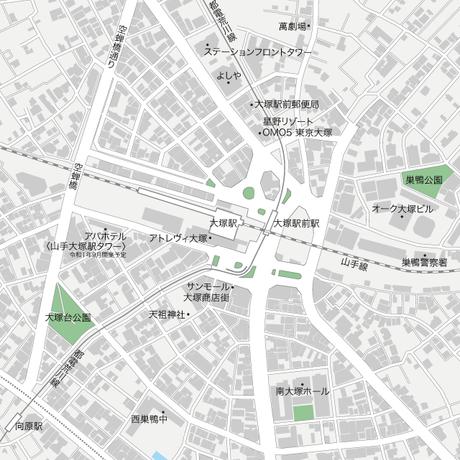 533067ffa28a9 東京 大塚 地図フリー素材A4(eps)日本語