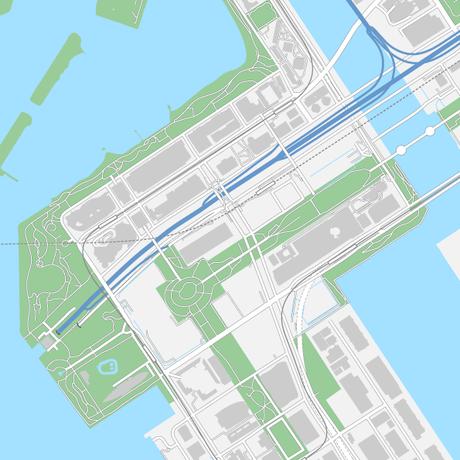 東京 お台場 ベクター地図データ(eps) 日本語/英語 並記版