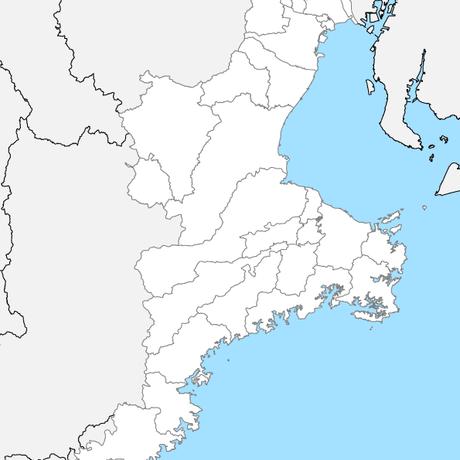 三重県 市区町村別 白地図 PDFデータ
