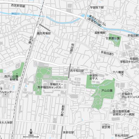 東京 高田馬場・早稲田 マップ PDFデータ