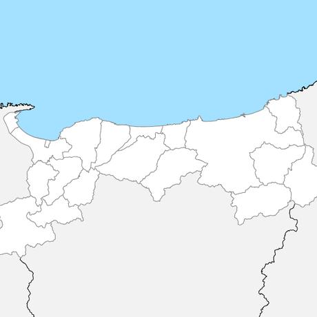 鳥取県 市区町村別 白地図データ(eps)