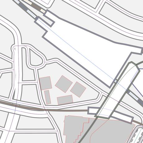 千葉 千葉駅周辺 ベクター地図データ(eps) 中国語繁体字 / 英語 並記版