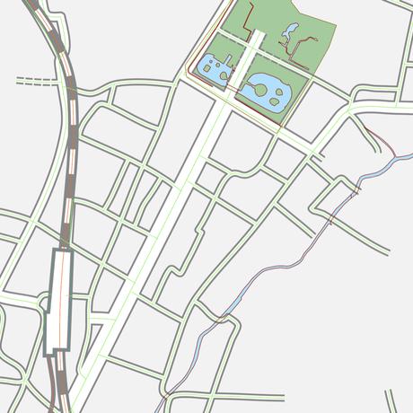 神奈川 江ノ電・鎌倉・逗子 ベクター地図データ(eps) 日本語