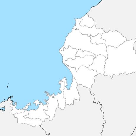 福井県 市区町村別 白地図データ(eps)